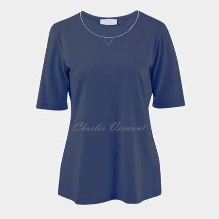 Just White Top - style 48685 (Marine Blue)
