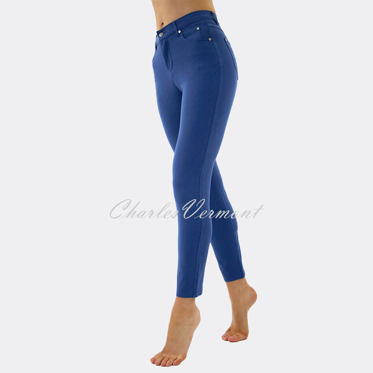 Marble Cropped Leg Skinny Jean – Style 2400-173 (Mid Blue)