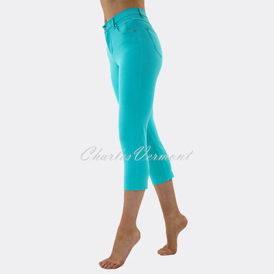 Marble Mid-Calf Cropped Leg Skinny Jean – style 2401-151 (Turquoise)