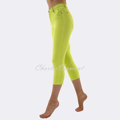 Marble Mid-Calf Cropped Leg Skinny Jean – Style 2401-163 (Lemon-Lime)