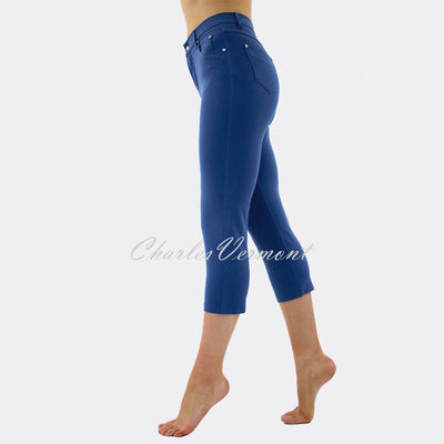 Marble Mid-Calf Cropped Leg Skinny Jean – Style 2401-173 (Mid Blue)