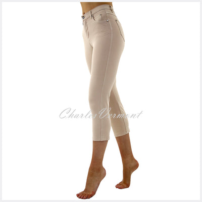 Marble Mid-Calf Cropped Leg Skinny Jean – Style 2401-185 (Beige)