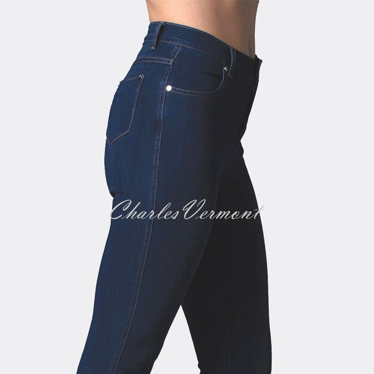 Marble Full Length Skinny Jean – Style 2407-183 (Dark Denim Blue)
