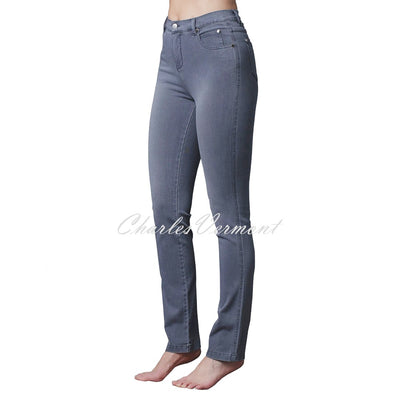 Marble Full Length Straight Leg Jean – Style 2408-182 (Grey Denim)