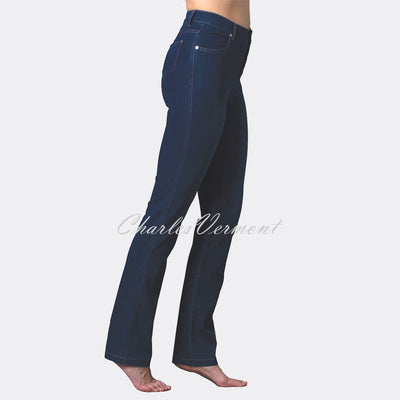 Marble Full Length Straight Leg Jean – Style 2408-183 (Dark Denim Blue)