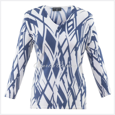 Marble Sweater – Style 5591-173 (White / Mid Blue)