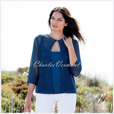 Marble Cardigan – Style 5624-173 (Mid Blue)