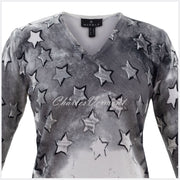 Marble Sweater – Style 5790-104 (Grey / Off White)