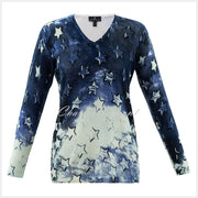 Marble Sweater – Style 5790-188 (Navy / Ice Green)