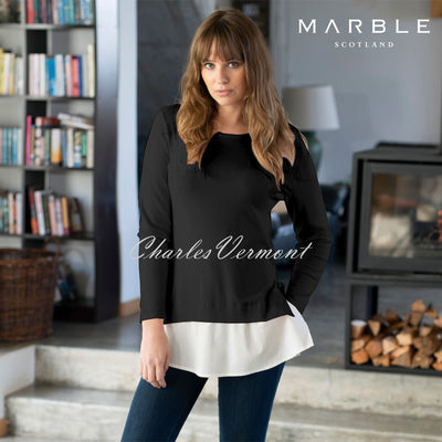 Marble Sweater - Style 5797-101 (Black / White)