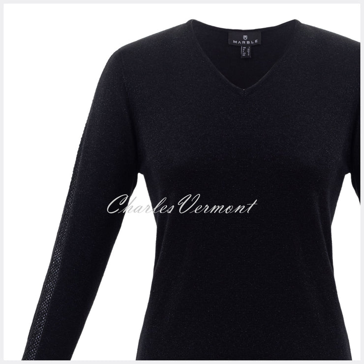 Marble Sweater – Style 5802-101 (Black / Silver Speckles)