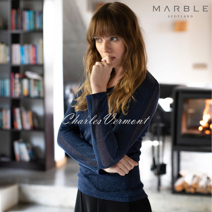 Marble Sweater – Style 5802-103 (Navy / Silver Speckles)