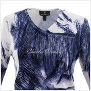 Marble Sweater – Style 5803-103 (Navy / Off White)