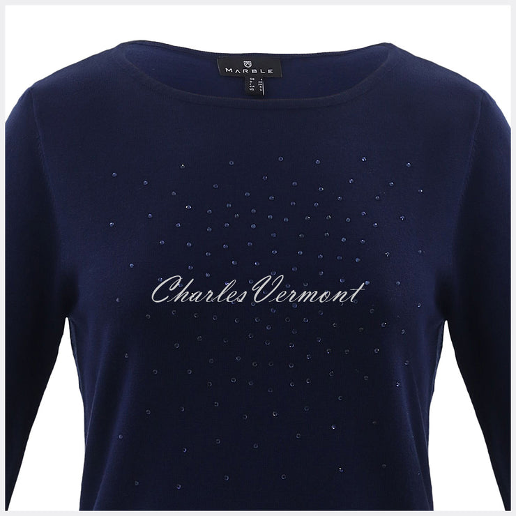 Marble Sweater – Style 5823-103 (Navy)