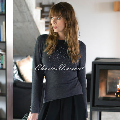 Marble Sweater – Style 5823-105 (Charcoal Grey)