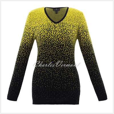 Marble Sweater - Style 5825-189 (Chartreuse / Black)