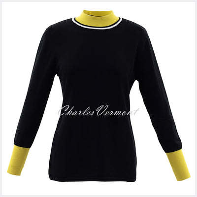 Marble Sweater – Style 5829-189 (Black / Chartreuse)