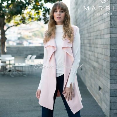 Marble Long-line Gilet – Style 5832-120 (Pale Pink)