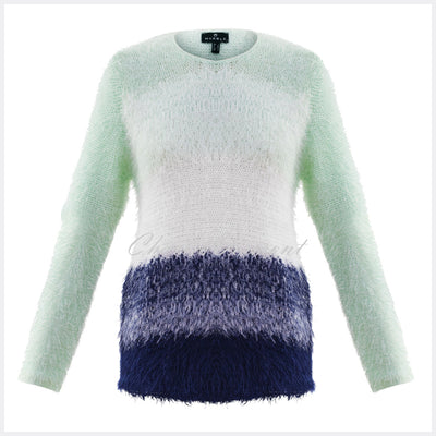 Marble Sweater – Style 5849-188 (Ice Green / White / Navy)