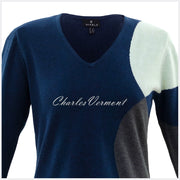 Marble Sweater – Style 5871-188 (Navy / Charcoal / Ice Green)
