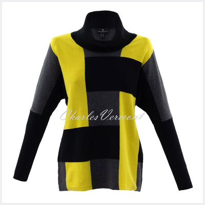 Marble Sweater – Style 5872-189 (Chartreuse / Black / Charcoal)