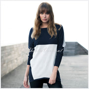 Marble Sweater – style 5876-103 (Navy / Off White)