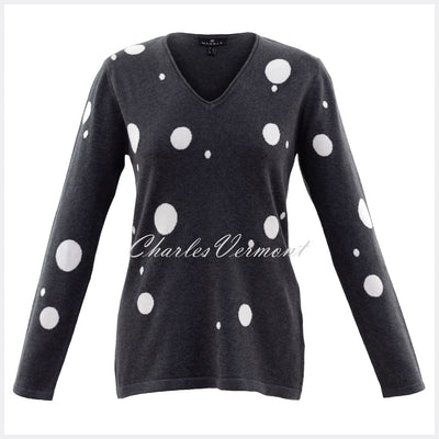 Marble Sweater– Style 5882-105 (Charcoal / Off White)