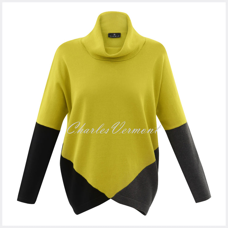 Marble Sweater – Style 5886-189 (Chartreuse / Charcoal / Black)