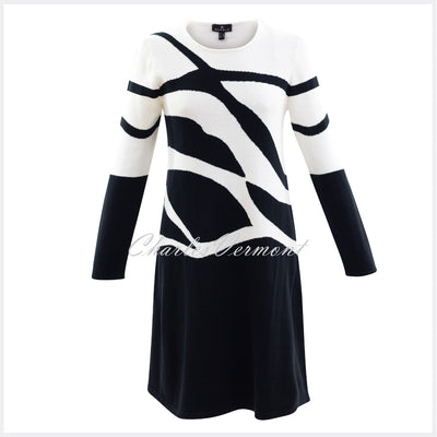Marble Dress – Style 5901-104 (Off White / Black)