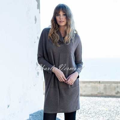 Marble Sweater Dress – Style 5903-159 (Mocha)