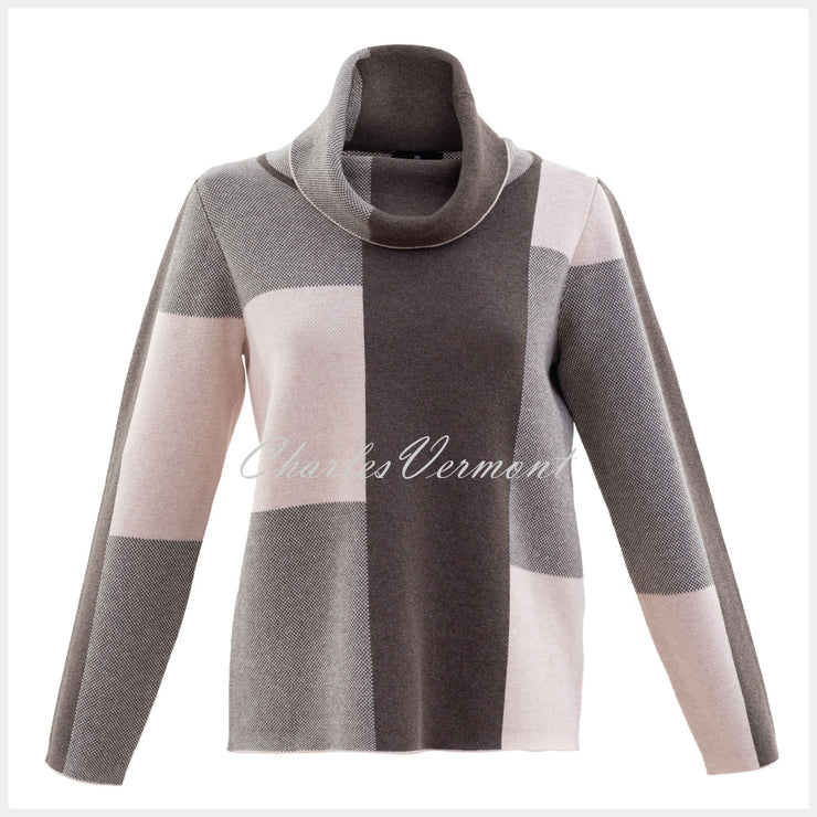 Marble Sweater – Style 5904 -120 (Pale Pink / Mocha / Off White)