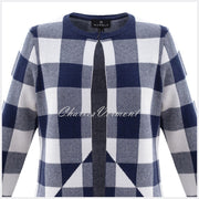 Marble Cardigan – Style 5914-103 (Navy / White)