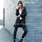 Marble Long-line Cardigan – Style 5919-101 (Black / White)