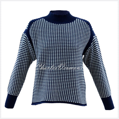 Marble Sweater – Style 5923-103 (Navy / Ice Green)