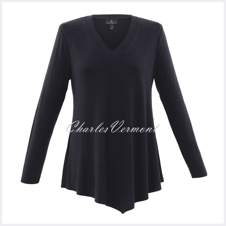 Marble Tunic – Style 5933-101 (Black with Black Crystals)