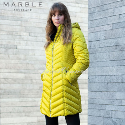 Marble Coat – Style 5948-189 (Chartreuse)