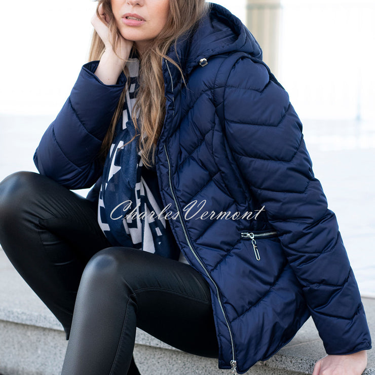 Marble Jacket (with Detachable Sleeves and Hood) – Style 5949-103 (Navy)