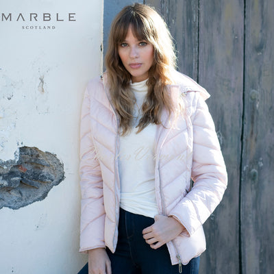 Marble Jacket (with Detachable Sleeves and Hood) – Style 5949-120 (Pale Pink)