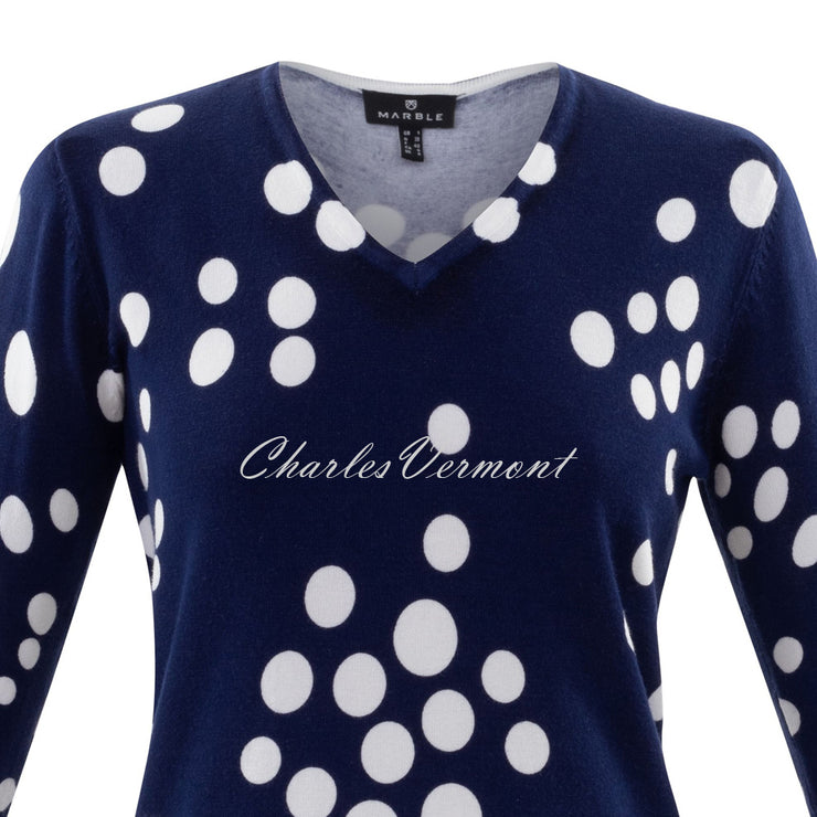 Marble Sweater – Style 6009-103 (Navy / White)