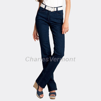 Michele 'Magic' 8379 Straight Jeans - Regular (Blue/Black)