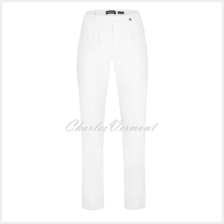 Robell Marie Trouser 51412-5499-10 (White) – SHORTER LENGTH