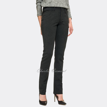 NYDJ 11540 Slim Straight Leg - Regular (Charcoal)