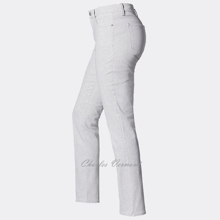NYDJ 30265HSP06 Skinny Jean - Regular (Cream Print)