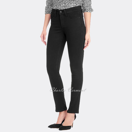 NYDJ 40965DT3531 Skinny Jeans - Regular (Black with Detail)