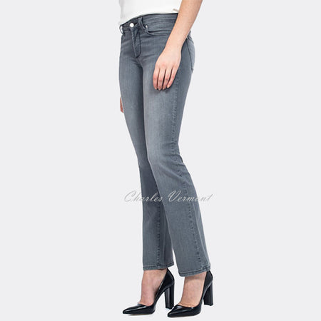 NYDJ M26P017P Slim Straight Leg Jeans - Regular (Grey)