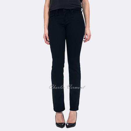NYDJ M40N07B Straight Jeans- Long Leg (Black)