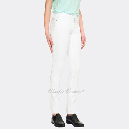 NYDJ M77Z1081 Samantha Slim Straight Leg Jean - Regular (Optic White)