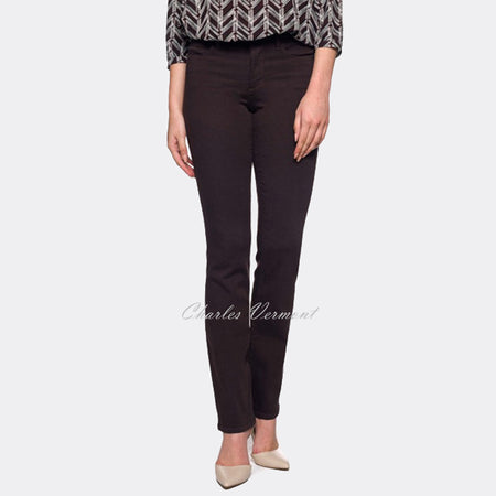 NYDJ MBQZ1425 Straight Leg Jean - Regular (Brown)