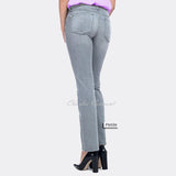 NYDJ P26477PG Straight Leg Jean - Petite (Light Grey)