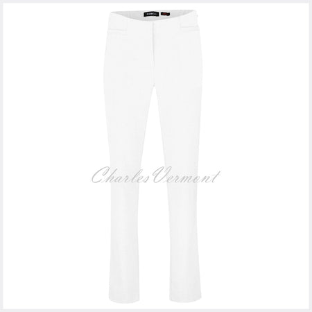 Robell Jacklyn Full Length Trouser 51408-5689-10 (White)